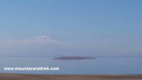 Arnes Island, Lake Van, Suphan Mountain on horizon