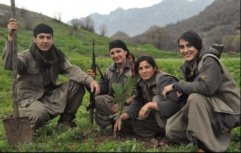 Kurds plant trees every spring to heal the deforestation of Anatolia