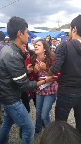 Yazidi demonstration, Sirnak refugee camp