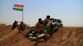 Peshmargas fighting ISIS