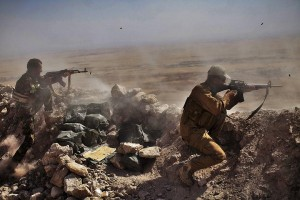 Peshmargas on the front line against ISIS