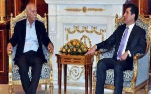 Gorran leader Nawshirwan Mustafa and KRG PM Nechirvan Barzani