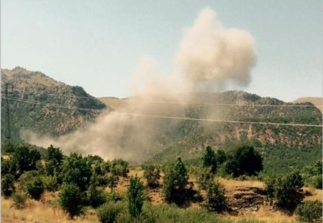 Turkish fighter planes pursued the youthful PKK into Hayes village apple orchard.