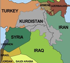 Kurds map