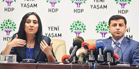 HDP's Co-chairmen Figen Yüksekdağ and Selahattin Demirtaş