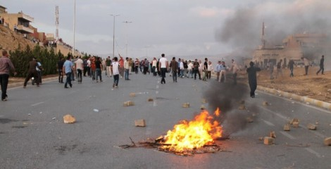 One of many street protests in the Kurdistan Region in 2015