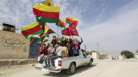 Syrian Kurds celebrate