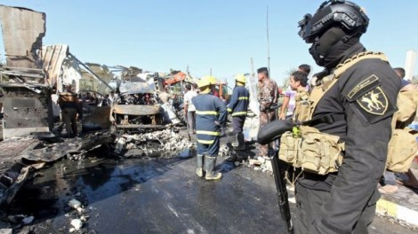 At least 47 people died after a fuel tanker was blown up yesterday at a checkpoint near Hilla, south of Baghdad.