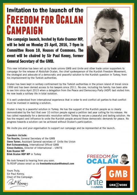 Freedom for Ocalan A5 Flyer