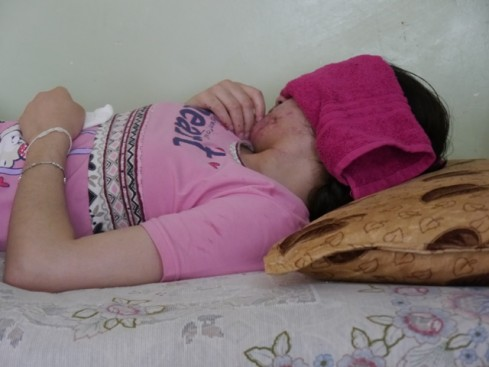 Lamya Haji Bishar, Yazidi teenage girl blinded by IED bomb when escaping to Kurdistan