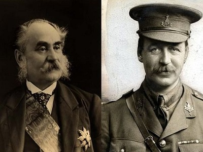 François Georges-Picot (left), and Sir Mark Sykes (right), the men responsible for the secret agreement of 1916 that now bears their names.