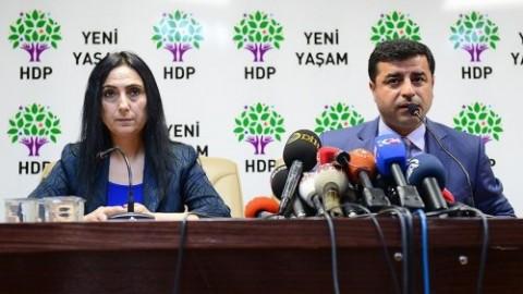 HDP co-leaders Figen Yüksekdağ and Selahattin Demirtaş
