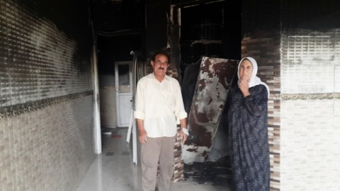 Ezidi house burned out after Daesh left Solaugh, Shingal