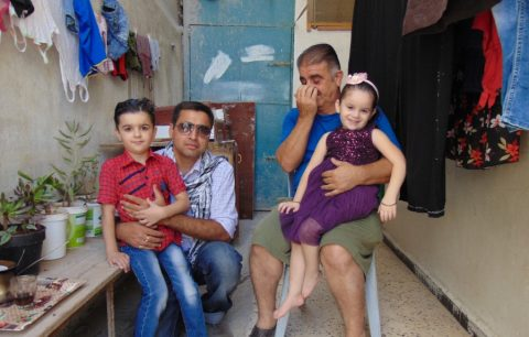Syrian refugee family I met at the border town of Al Mafraq.