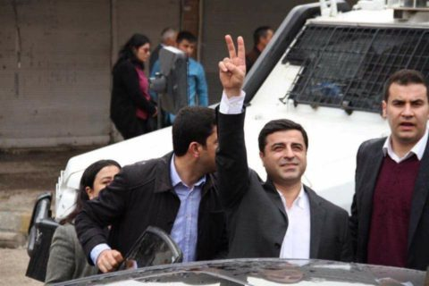 HDP co-chair Selahattin Demirtas today