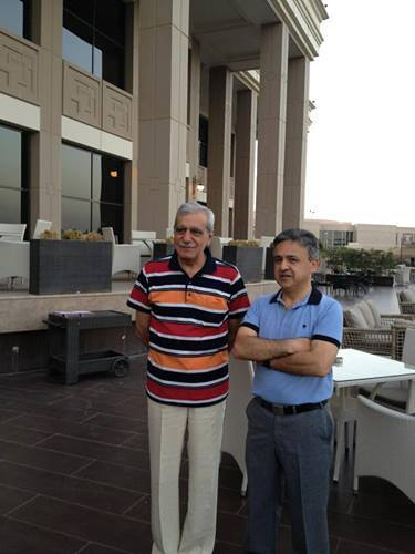 Ahmet Turk and Arian Mufid, Erbil, 2013