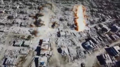 Destruction of Nusaybin - drone footage
