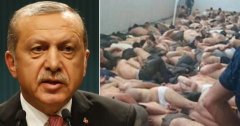 Erdogan and detainees held after the 2016 failed coup attempt - his 'gift from God'