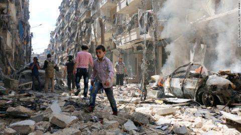 Aleppo in ruins