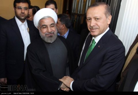 Presidents Rohani of Iran and Erdogan of Turkey